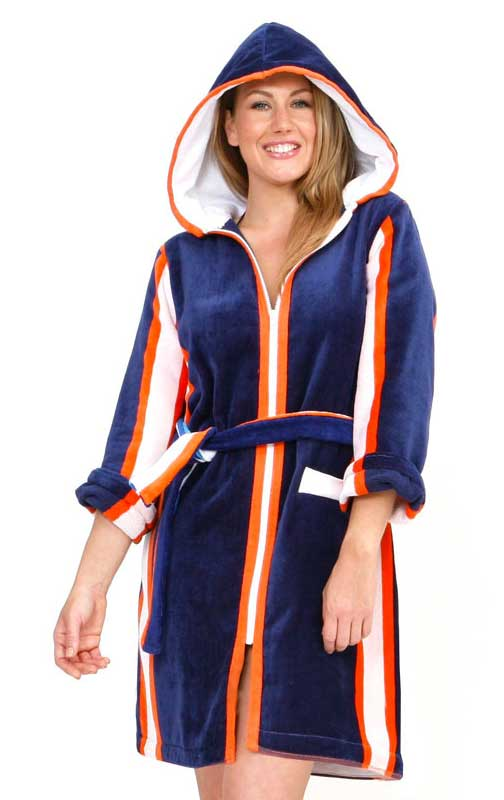 Hooded Beach Robe In XL