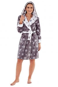 Short Plus Size Hooded Robe