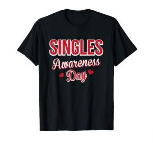 Black T-shirts For Singles on Valentine