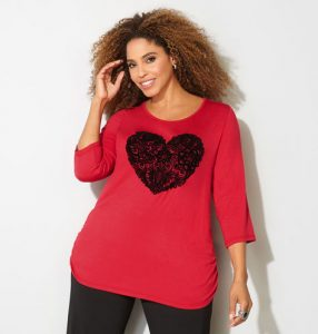 Cute Valentines Tops With Heart
