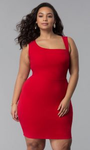 Plus Size Red Bodycon Dress