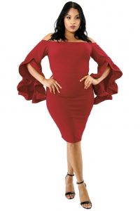 Plus Size Red Bodycon Dresses