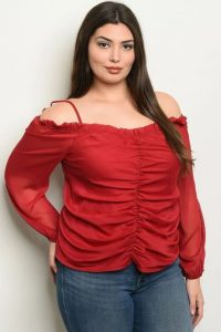 Plus Size Red Dressy Blouse