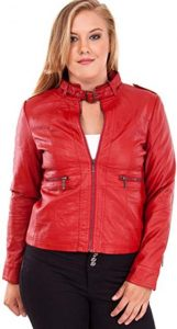 Plus Size Red Quilted Jacket