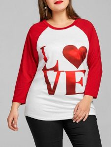 Plus Size Valentines Day Shirts