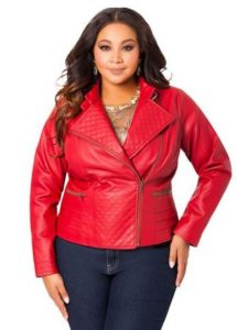 Plus Sizes Red Leather Jackets