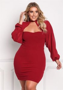 Red Bodycon Dress Plus Size