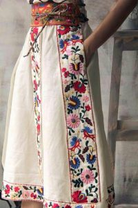 Long Mexican Embroidered Skirt
