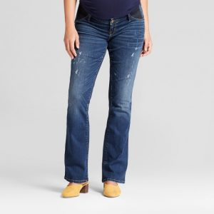 Maternity Distressed Bootcut Jeans