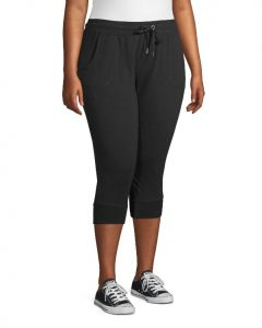 Black Plus Size Capri Joggers