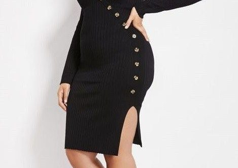 Black Sweater Dress Plus Size