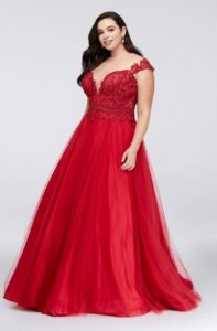 Plus Size Red Ball Gown