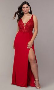 Red Ball Gown Plus Size