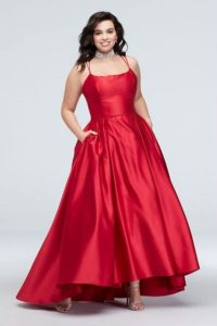 Red Plus Size Ball Gown