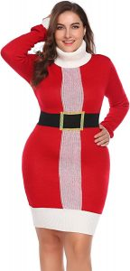 Red Plus Size Sweater Dresses