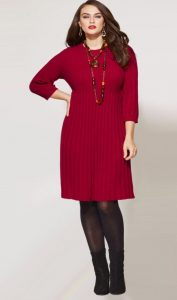 Red Sweater Dress Plus Size
