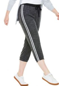 Side Striped Capri Joggers